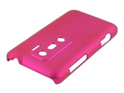 Rubberised Colour Case for HTC EVO 3D - Hot Pink
