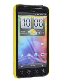 Rubberised Colour Case plus Screen Protector for HTC EVO 3D - Canary Yellow