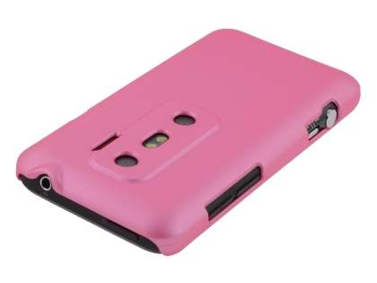 Rubberised Colour Case plus Screen Protector for HTC EVO 3D - Baby Pink