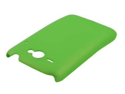 Rubberised Colour Case plus Screen Protector for HTC ChaCha - Lime Green