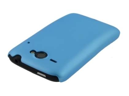 Rubberised Colour Case for HTC ChaCha - Sky Blue