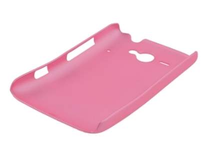 Rubberised Colour Case plus Screen Protector for HTC ChaCha - Baby Pink