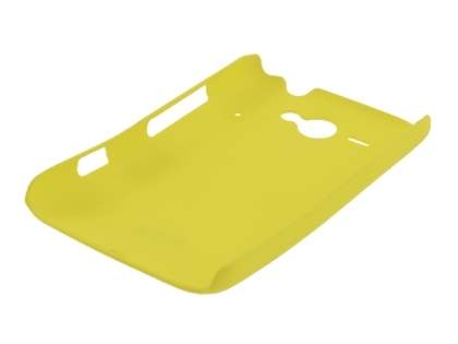 Rubberised Colour Case for HTC ChaCha - Canary Yellow