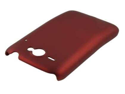 Rubberised Colour Case for HTC ChaCha - Burgundy Red