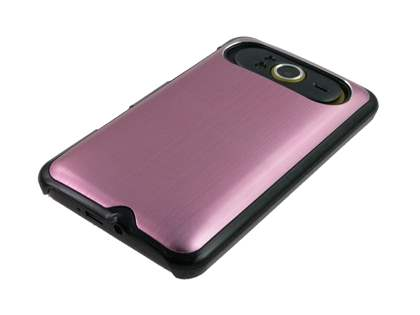 Brushed Aluminium Case for HTC HD7 - Baby Pink