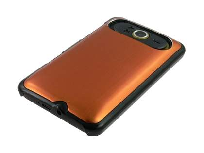 Brushed Aluminium Case plus Screen Protector for HTC HD7 - Bronze