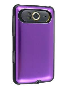 Brushed Aluminium Case plus Screen Protector for HTC HD7 - Lavender Purple Hard Case