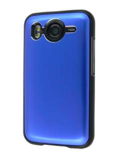 Brushed Aluminium Case plus Screen Protector for HTC Desire HD - Ocean Blue