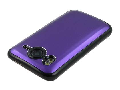Brushed Aluminium Case for HTC Desire HD - Grape Purple