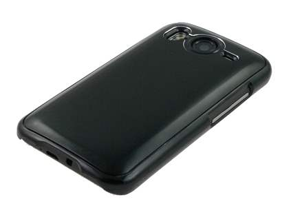 Brushed Aluminium Case for HTC Desire HD - Night Black