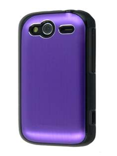 HTC Wildfire S Brushed Aluminium Case - Grape Purple Hard Case