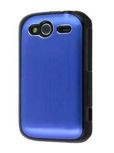 HTC Wildfire S Brushed Aluminium Case - Ocean Blue Hard Case