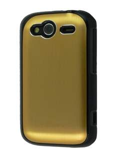 HTC Wildfire S Brushed Aluminium Case - Gold Hard Case