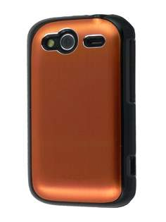 HTC Wildfire S Brushed Aluminium Case - Bronze Hard Case