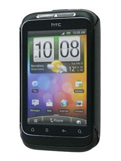 HTC Wildfire S Brushed Aluminium Case plus Screen Protector - Burgundy Red