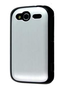 HTC Wildfire S Brushed Aluminium Case - Silver Hard Case