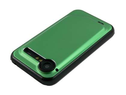 HTC Incredible S Brushed Aluminium Case - Lime Green