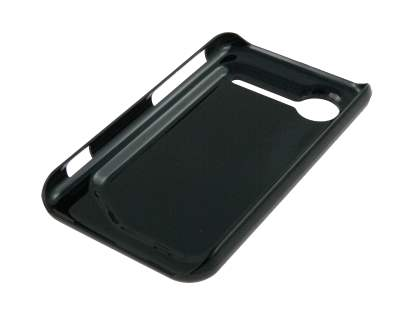 HTC Incredible S Brushed Aluminium Case plus Screen Protector - Night Black