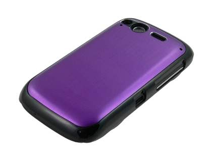HTC Desire S Brushed Aluminium Case - Grape Purple