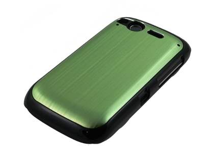 HTC Desire S Brushed Aluminium Case plus Screen Protector - Lime Green