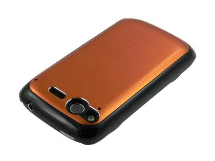HTC Desire S Brushed Aluminium Case plus Screen Protector - Bronze