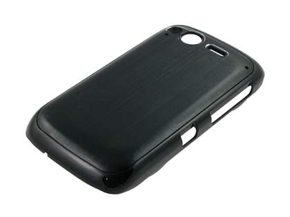 HTC Desire S Brushed Aluminium Case plus Screen Protector - Night Black
