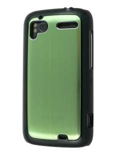 Brushed Aluminium Case for HTC Sensation - Lime Green Hard Case