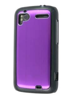 Brushed Aluminium Case for HTC Sensation - Lavender Purple Hard Case