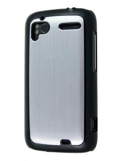 Brushed Aluminium Case for HTC Sensation - Silver Hard Case