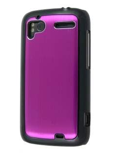 Brushed Aluminium Case for HTC Sensation - Hot Pink Hard Case