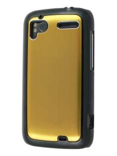 Brushed Aluminium Case for HTC Sensation - Gold Hard Case