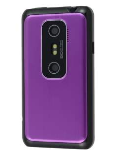 HTC EVO 3D Brushed Aluminium Case - Lavender Purple Hard Case