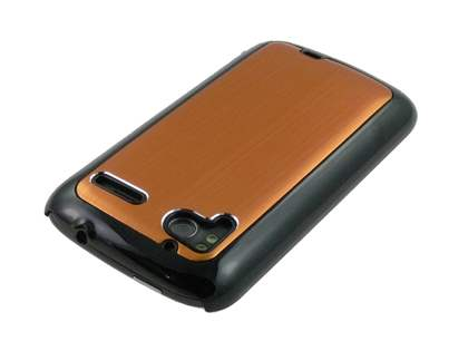 Brushed Aluminium Case plus Screen Protector for HTC Sensation - Bronze