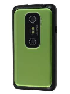HTC EVO 3D Brushed Aluminium Case - Lime Green Hard Case