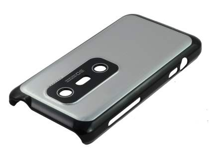 HTC EVO 3D Brushed Aluminium Case plus Screen Protector - Silver