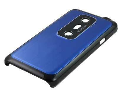 HTC EVO 3D Brushed Aluminium Case plus Screen Protector - Ocean Blue