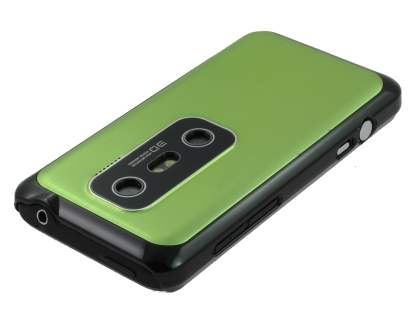 HTC EVO 3D Brushed Aluminium Case - Lime Green
