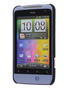 HTC Salsa Colour Case plus Screen Protector - Classic Black