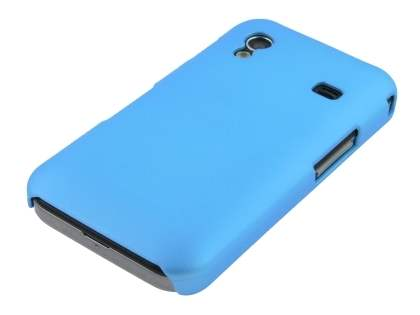 Samsung Galaxy Ace S5830 Rubberised Colour Case plus Screen Protector - Sky Blue