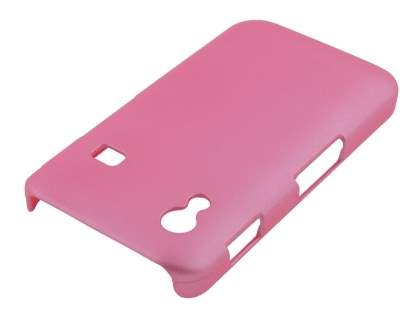 Samsung Galaxy Ace S5830 Rubberised Colour Case plus Screen Protector - Baby Pink