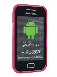 Samsung Galaxy Ace S5830 TPU Gel Case - Frosted Red