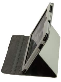 Samsung Galaxy Tab 10.1  Synthetic Leather Flip Case with Dual-Angle Tilt Stand - White