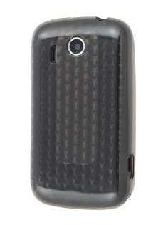 HTC Explorer TPU Gel Case - Diamond Grey Soft Cover