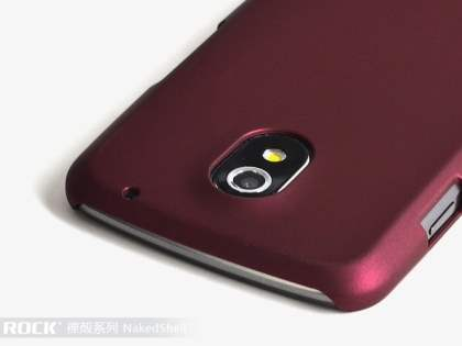 ROCK Nakedshell Case for Samsung I9250 Google Galaxy Nexus - Burgundy Red