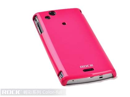 ROCK Nakedshell Colour Case for Sony Ericsson XPERIA Arc/Arc S - Glossy Pink Hard Case