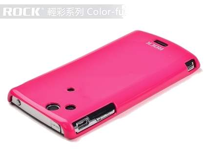 ROCK Nakedshell Colour Case for Sony Ericsson XPERIA Arc/Arc S - Glossy Pink