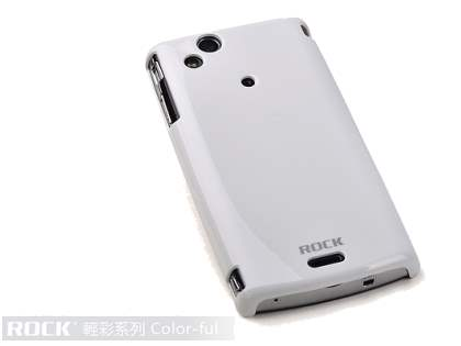 ROCK Nakedshell Colour Case for Sony Ericsson XPERIA Arc/Arc S - Glossy White Hard Case
