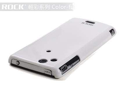 ROCK Nakedshell Colour Case for Sony Ericsson XPERIA Arc/Arc S - Glossy White