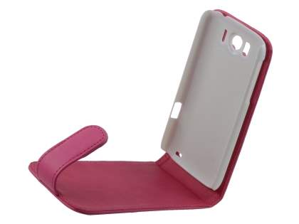 HTC Sensation XL Synthetic Leather Flip Case - Pink
