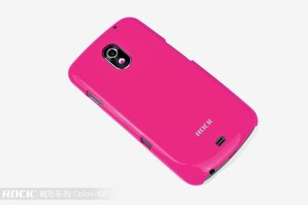 ROCK Nakedshell Glossy Colour Case for Samsung I9250 Google Galaxy Nexus - Glossy Pink Hard Case
